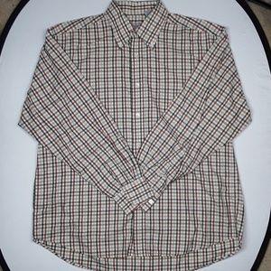 Alan flusser plaid shirt sz XL